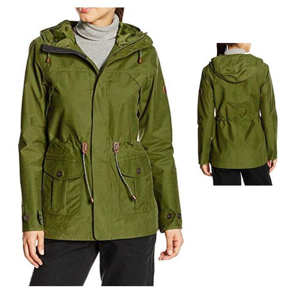 newest ee11c 87df1 Berghaus wasserdichte Damen Jacke Regenmantel Outdoorjacke - grün khaki S 36