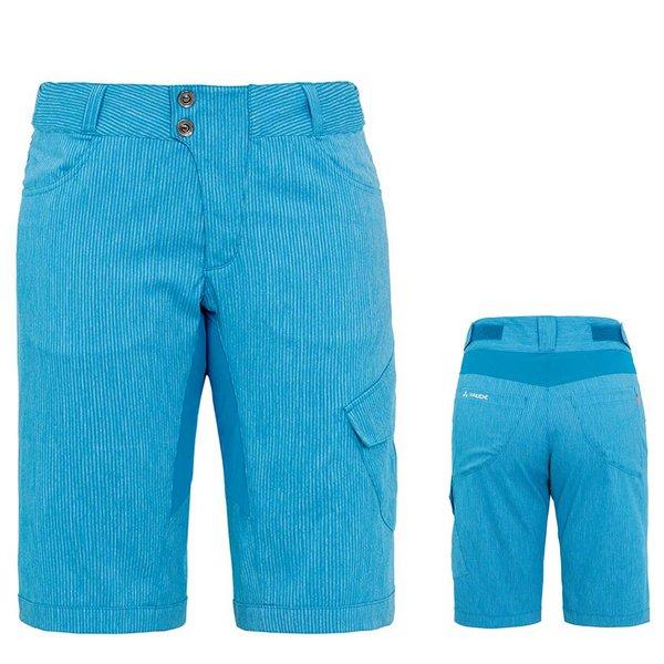 VAUDE Damen Hose Tremalzo Shorts - Damen Radhose mit Polsterung - blau 40 M/L