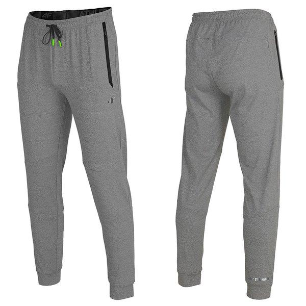 4F - Herren Jogging- Sport Hose - grau melange