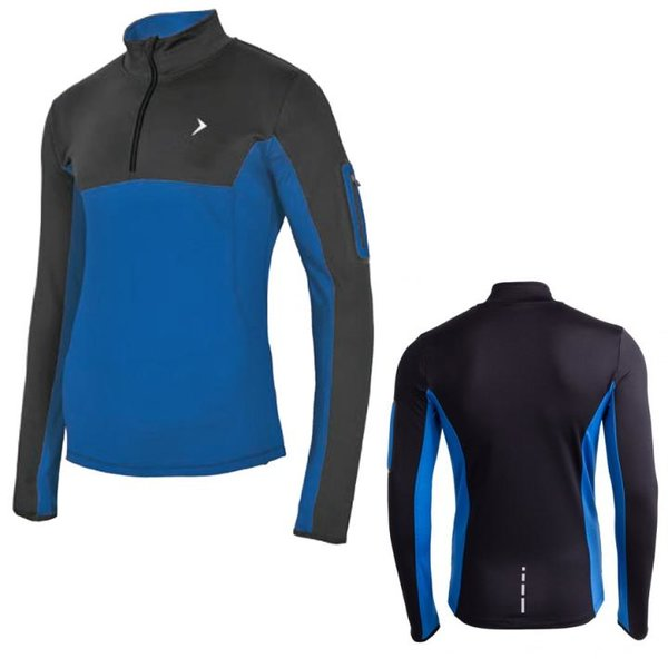 Outhorn - Herren Sport Langarmshirt - blau schwarz