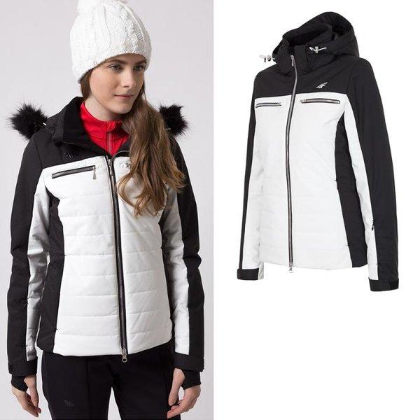 Dermizax TORAY 20.000 - Damen 4F Hightech Winterjacke Luxus - schwarz weiß