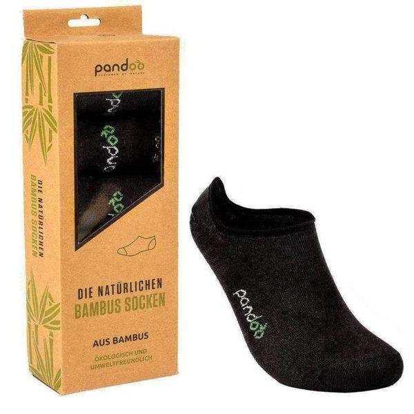 PANDOO - Füßlinge - Natürliche Funktionssocken aus Bambus - schwarz - 6er Pack
