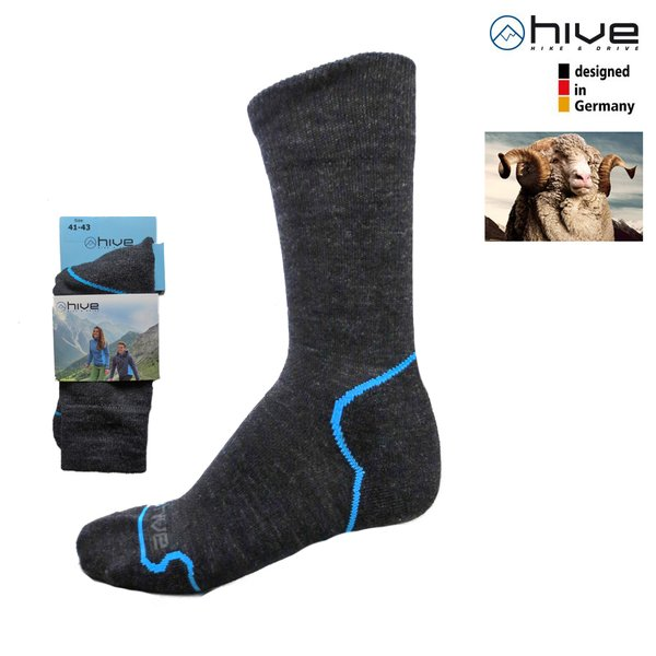 HIVE - MERINO Trekking Wandersocken - (Made in EU)