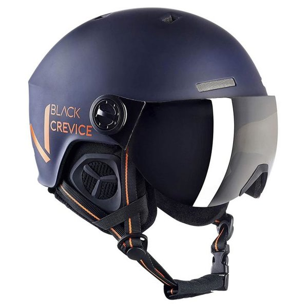 Black Crevice - Sölden- Skihelm mit Visier - navy orange