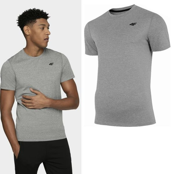 4F - Quickdry Herren Sport T-Shirt - grau melange