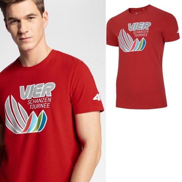 4F - Vier Schanzen Tournee - Herren T-Shirt - rot