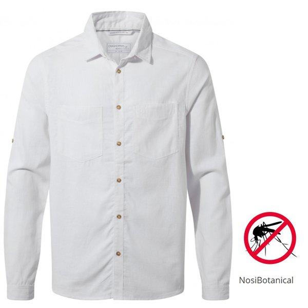 Craghoppers - NB Villar LS langarm Hemd Herren Nosibotanical, weiß