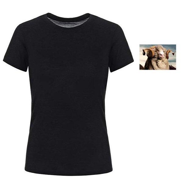 super.natural Dünnes Damen Kurzarm T-Shirt, Mit Merinowolle, W BASE TEE 140, navy L 40