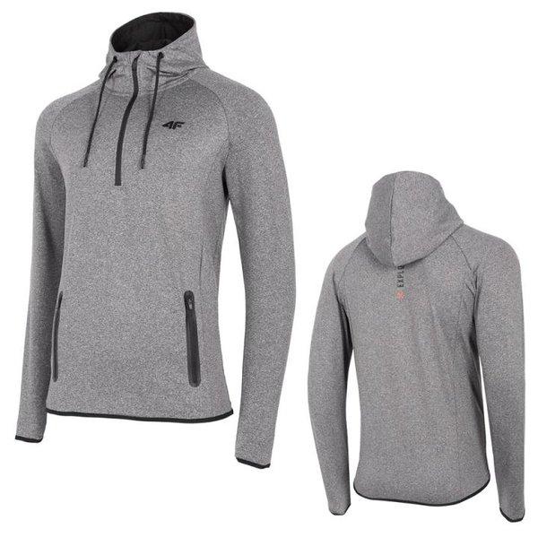 4F - Herren Sweat-Fleece Pullover - Hoody - grau melange