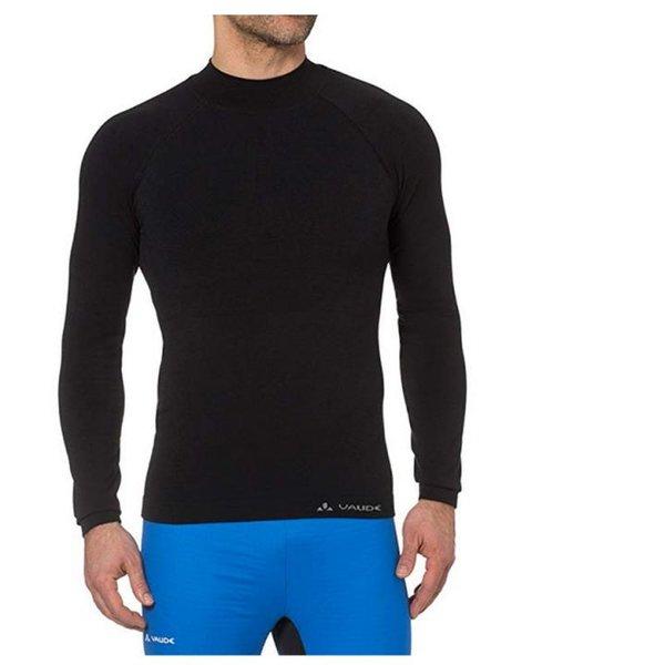 VAUDE Herren T Shirt Seamless Long Sleeve Merino Funktions Longshirt - schwarz 46 XS S