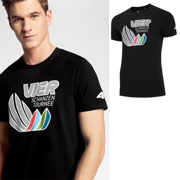 4F - Vier Schanzen Tournee - Herren T-Shirt - schwarz