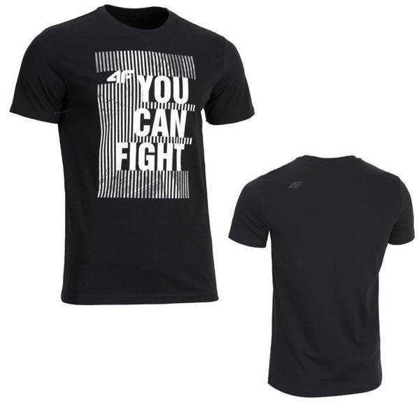 4F - you can fight - Herren T-Shirt - schwarz