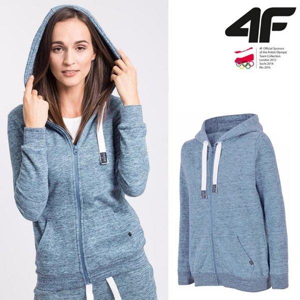 4F - Sweat-Fleece-Jacke - Damen Sportjacke