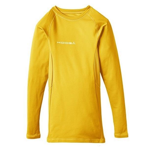 KOOGA Kinder Baselayer Shirt Funktions Langarmshirt - gelb - S