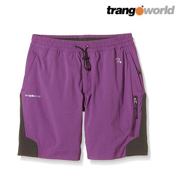 Trango World - Kinder Hose Wanderhose Shorts - lila XS 4 Jahre