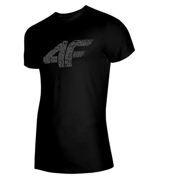 4F - Logo Baumwollshirt - Herren T-Shirt - schwarz