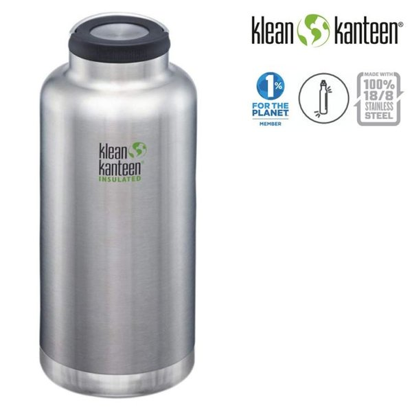 Klean Kanteen - Classic Trinkflasche Brushed Stainless, 1900ml