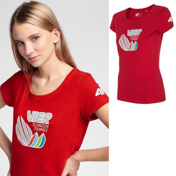 4F - Vier Schanzen Tournee - Damen T-Shirt - rot