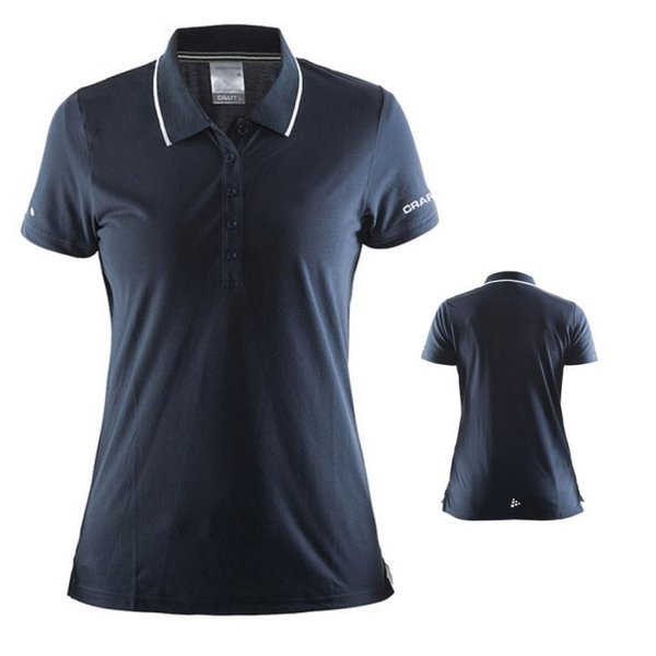 Craft - Damen Polo Shirt SS TEE W Sportshirt - navy