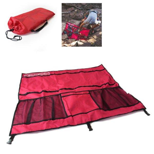 RACKSTER - Klettertasche - platzsparend verstaut und optimal organisiert - rot