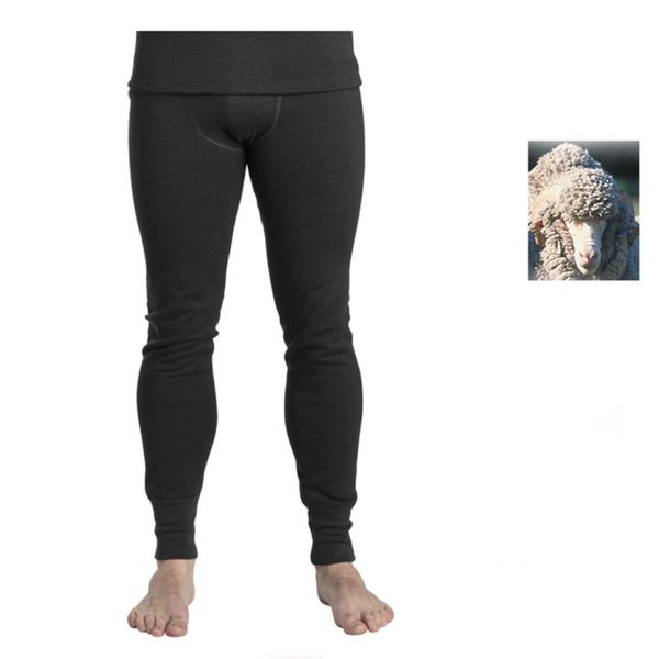 TERMO - Wool Medium - Herren Merino Hose Unterhose, schwarz