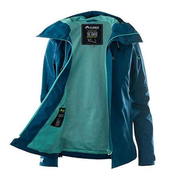Elbrus Damen Wo's Light Jacket - Hardshell Outdoorjacke 15.000 - ocean
