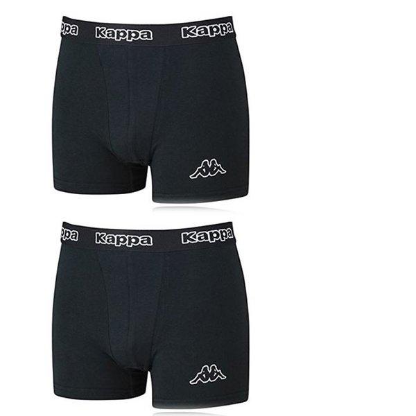 KAPPA - 2x Sport Basic Comfy - Herren Boxershort - Regular Fit - schwarz