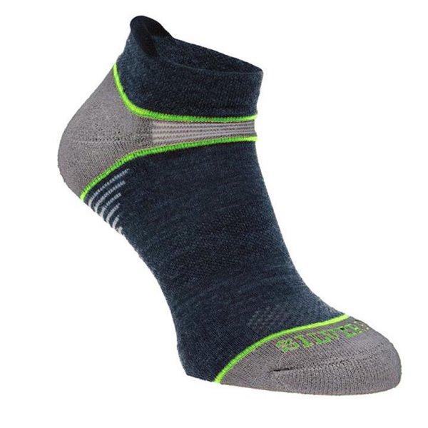 Silverpoint - On The Move no show - Merino Socken - navy grün