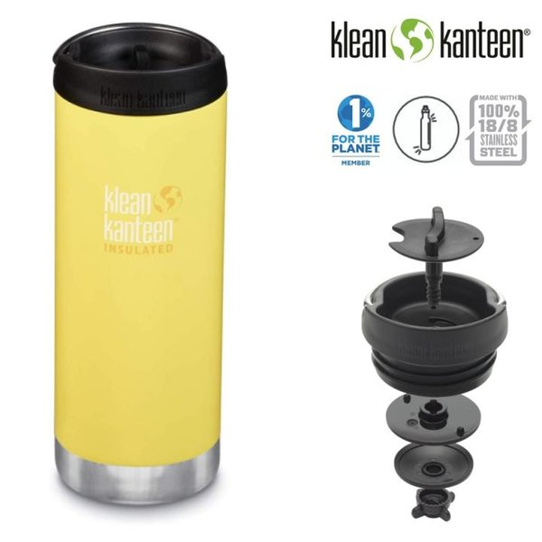 Klean Kanteen - Thermo Trinkflasche TKWide VI, Buttercup, 473ml