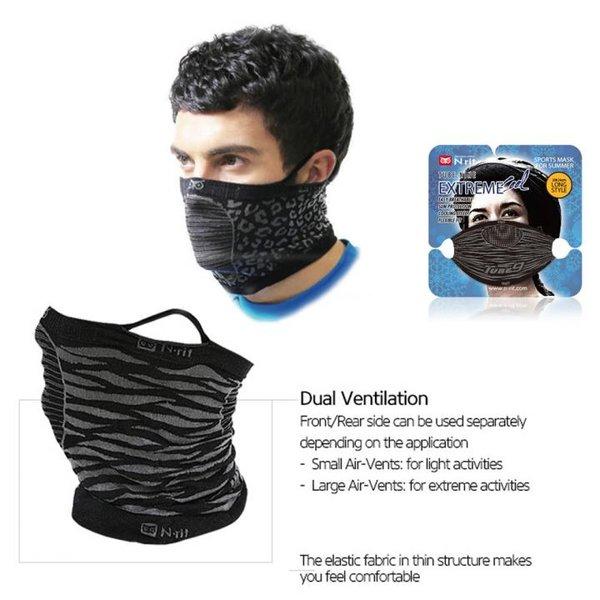 N-rit - Tube Nine Extreme Cool - Multifunktionstuch Buff mit Ohrenhänkel - schwarz
