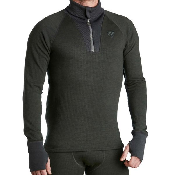 TERMO - Wool Original 2.0 - Roll-neck with zip - dicker Merino Herren Zipper Pullover