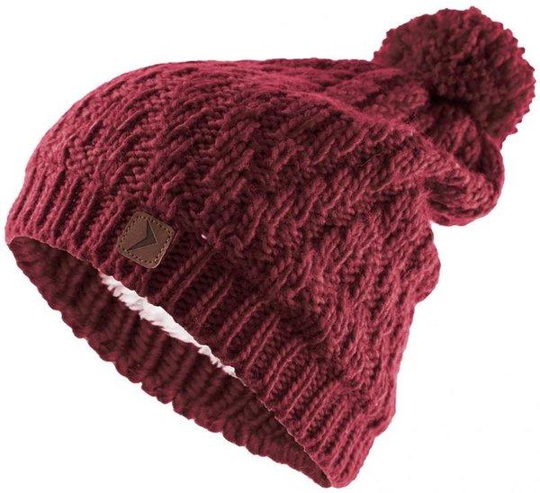 Outhorn - Strickmütze mit Bommel - dicke Wintermütze - rot