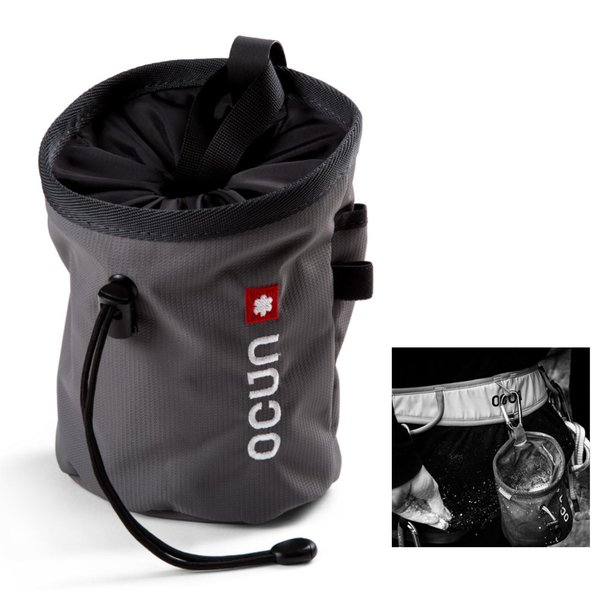 OCUN - funktioneller Chalkbag inklusive passendem Gürtel zur Befestigung - Push + Belt - schwarz