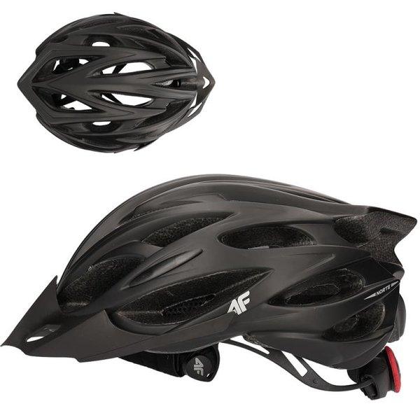 4F - In-Mould Helm - Fahrradhelm - schwarz