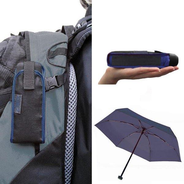 EuroSCHIRM - Göbel - Minischirm Regenschirm Trekkingschirm - DAINTY, marine