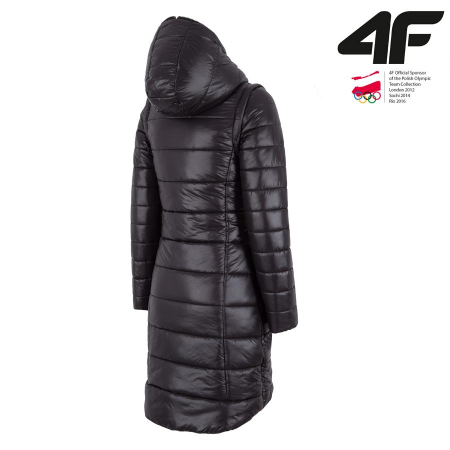 new style 636b0 cc876 4F - Wintermantel synthetische Daune - Damen Wintermantel - schwarz