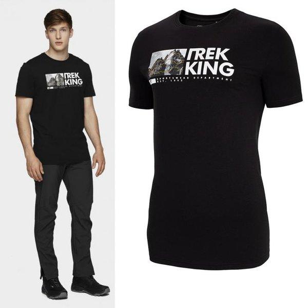 4F - Trek King - Herren T-Shirt Baumwolle - schwarz
