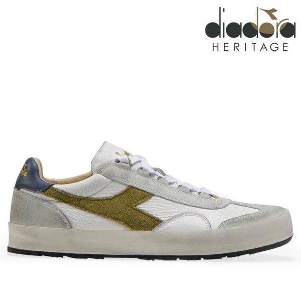 Diadora - B.ORIGINAL H Leather dirty Schuhe Sneaker, weiß grün