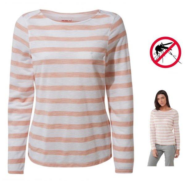 Craghoppers - NosiLife Erin Oberteil mit langem Ärmel - Damen - pink weiß