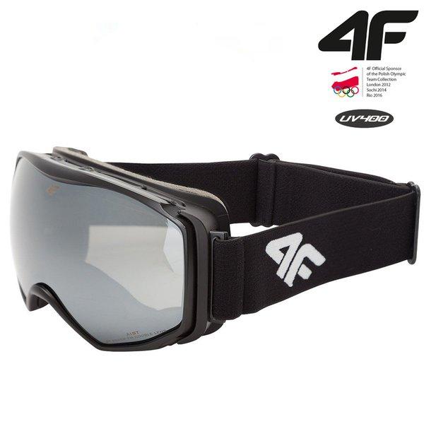 4F - Skibrille Snowboardbrille - BIG 2018 - schwarz
