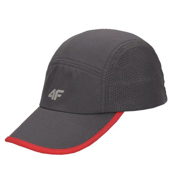 4F - Schildmütze - Cappy - grau rot
