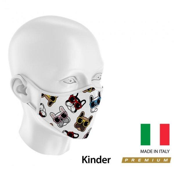 3Face - hochwertiger Kinder Mund - Nasenschutz - waschbar - wiederverwendbar - mit Membrane - Made i