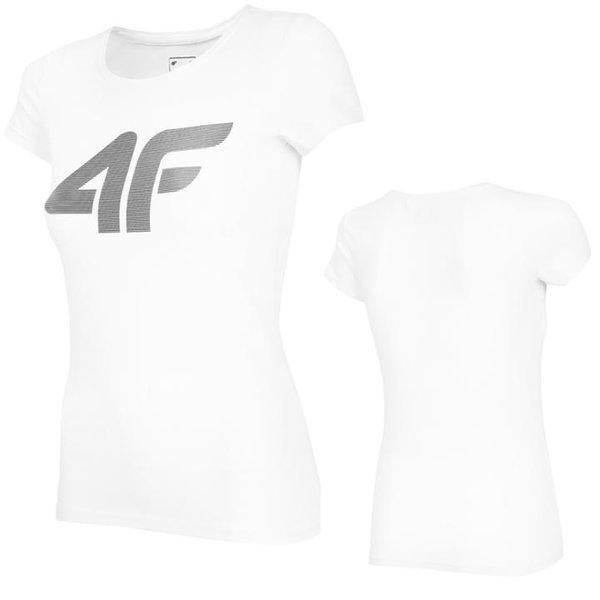 4F- Logo T-Shirt - Damen - weiß