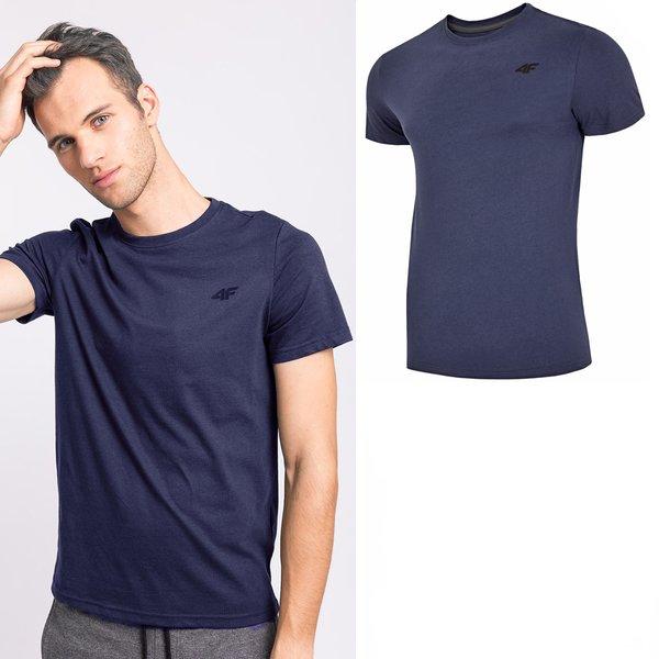 4F - Baumwollshirt - Herren T-Shirt - navy