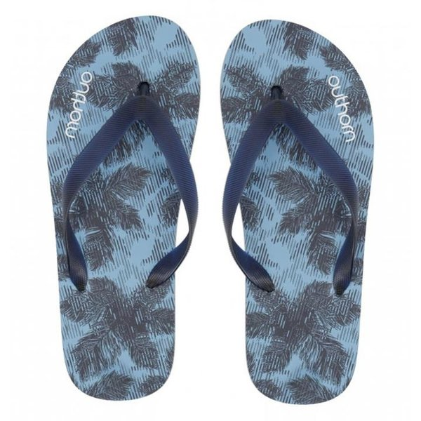Outhorn - Beach Flip Flops - Herren Zehentrenner - blau palmen