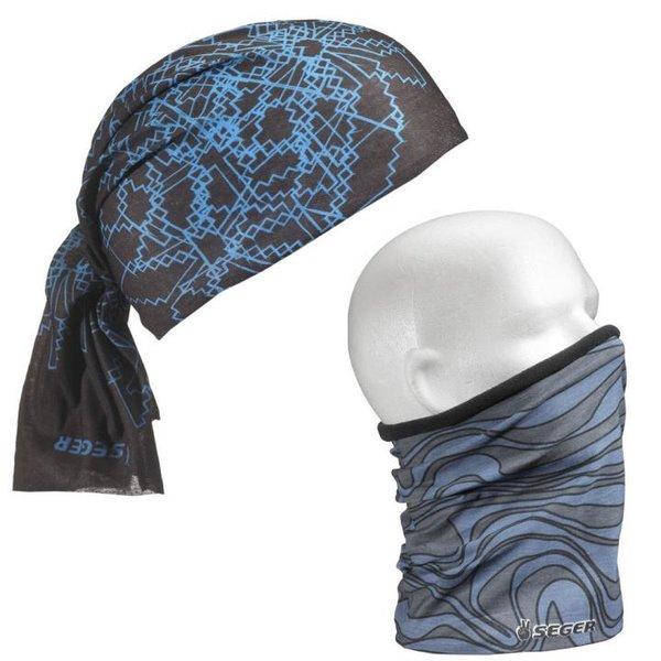 Seger - Snow - Multifunktionstuch Bandana - schwarz blau