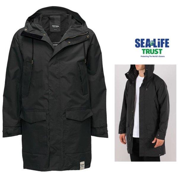 TRETORN - gefütterte wasserdichter Wintermantel - Rain Jacket from the Sea, schwarz