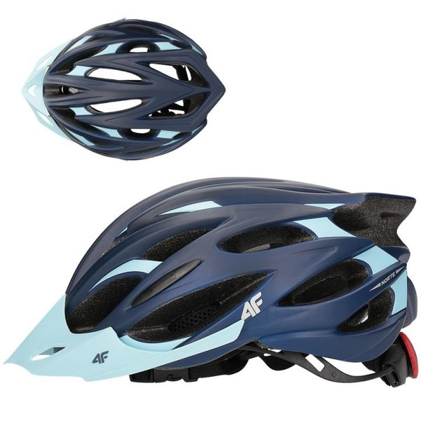 4F - In-Mould Helm - Fahrradhelm - navy türkis