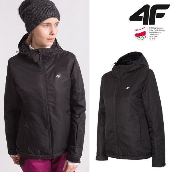 4F - Damen Regenjacke - Winterjacke -schwarz
