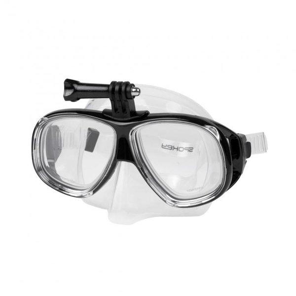 SPOKEY - Taucherbrille Schwimmbrille UV Schutz TAMUK CAMERA - Anti-Fog und Halterung - schwarz
